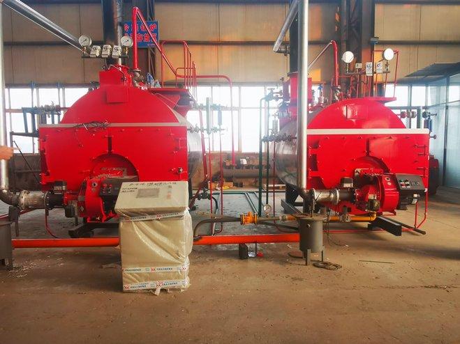 wns oil gas fired steam boiler installation