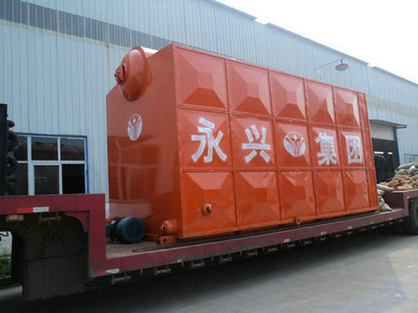 SZL 7MW 1.25MPa Shop Assembled Membrane Water Cooling Wall Coal Fired Chain Grate Stoker Boiler Hot Water