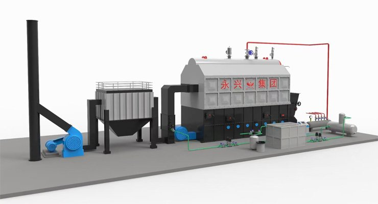 SZL-double-drum-coal-biomass-boiler-system
