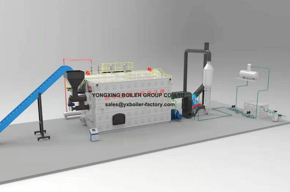 high pressure steam boiler system