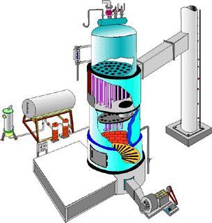 Simple vertical boiler diagram 3D format