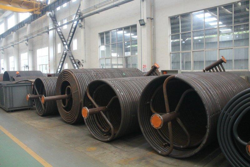hot oil boiler coils pipes