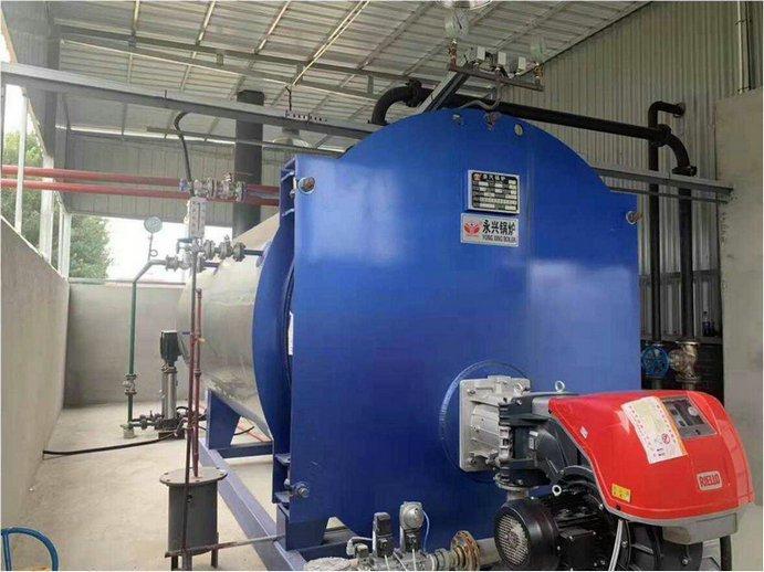 oil fired hot water boiler system