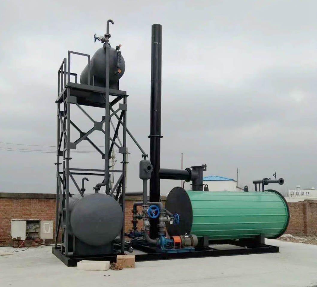 thermal oil boiler skid mounted
