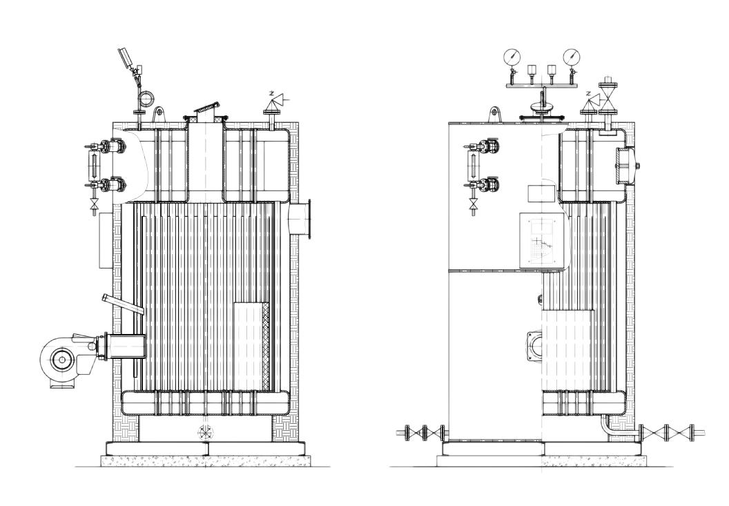 vertical boiler structure drawing